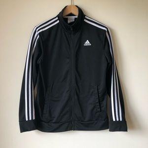 Adidas Track Jacket Girls Boys L 14-16 Zip Up